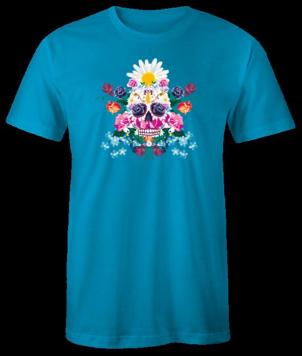 """T-Shirt """"Sugar Skull"""" (aqua)"""