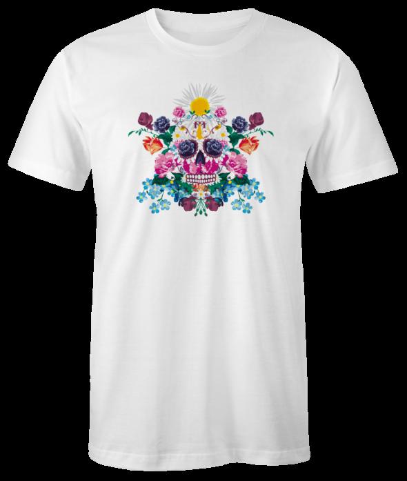 """T-Shirt """"Sugar Skull"""" (weiss)"""