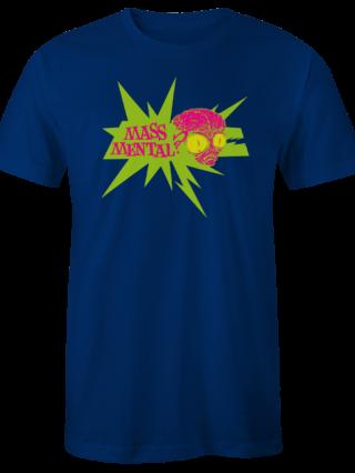 """Mass Mental T-Shirt """"Alien Logo"""" (blau)"""