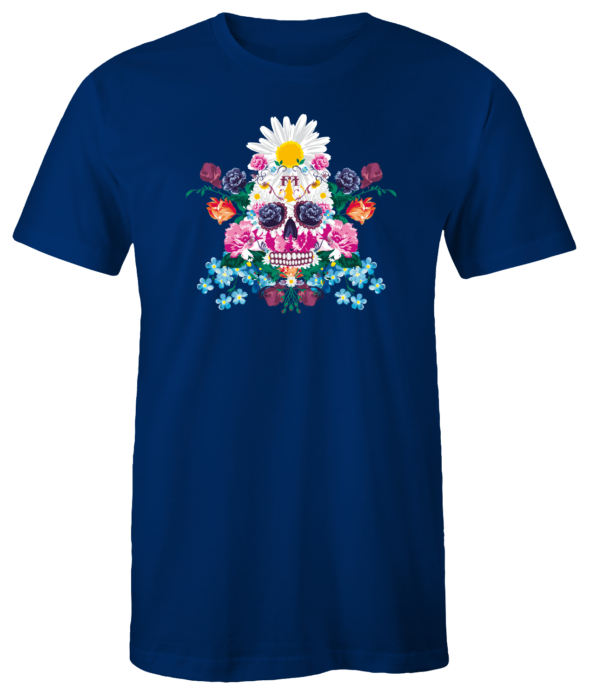 "T-Shirt ""Sugar Skull"" (blau)"