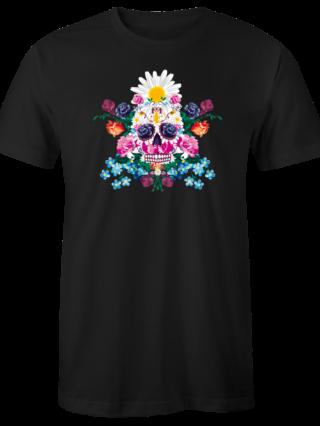"T-Shirt ""Sugar Skull"" (schwarz)"