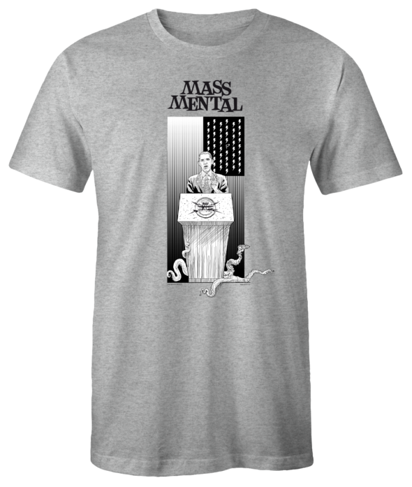 "Mass Mental T-Shirt ""Invasion"" (grau mélange)"