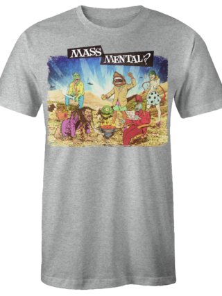"Mass Mental T-Shirt ""Mass Mental"" (grau mélange)"