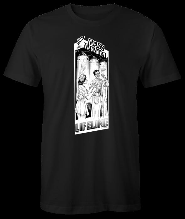 """Mass Mental T-Shirt """"Lifeline"""" (schwarz)"""