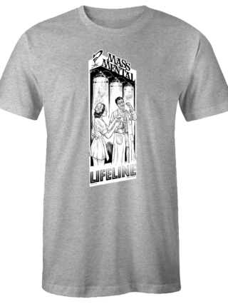 "Mass Mental T-Shirt ""Lifeline"" (gau mélange)"