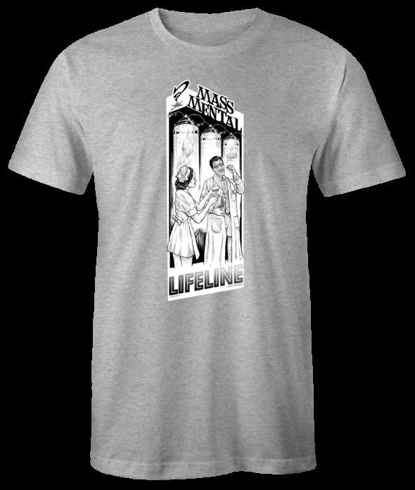 "Mass Mental T-Shirt ""Lifeline"" (gau mélange)"