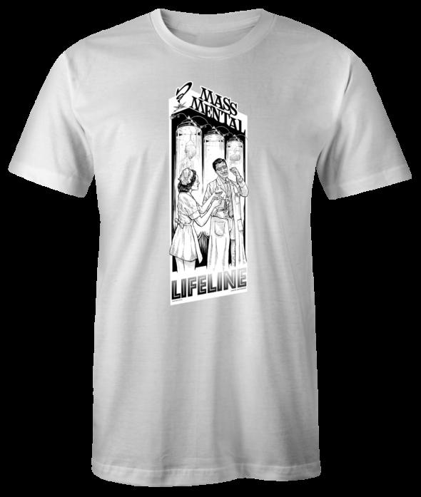 """Mass Mental T-Shirt """"Lifeline"""" (weiss)"""