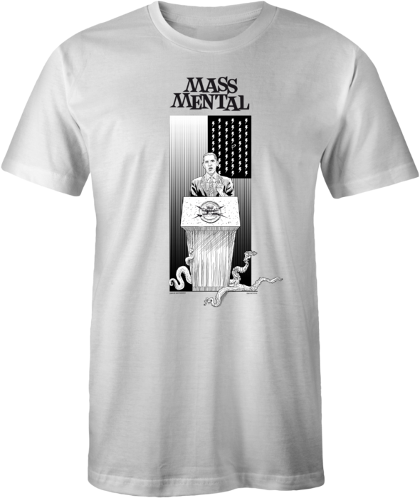"Mass Mental T-Shirt ""Invasion"" (weiss)"