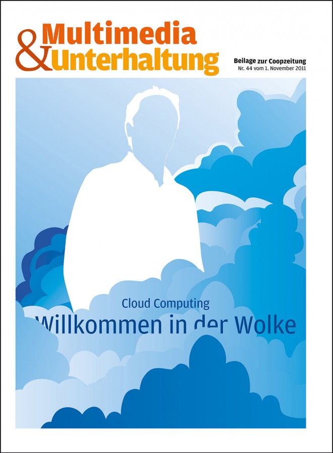 "Titelbild-Illustration für Cloud Computing Beilage ""Coop Zeitung"""