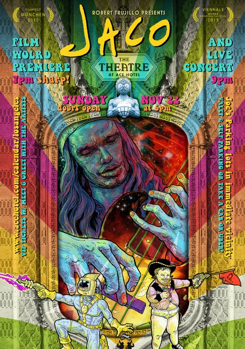 Poster for Movie World Premiere with Mass Mental and Hipster Assassins Concert in Los Angeles